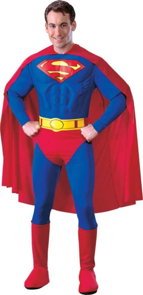 Adult Deluxe Superman Costume - Party City