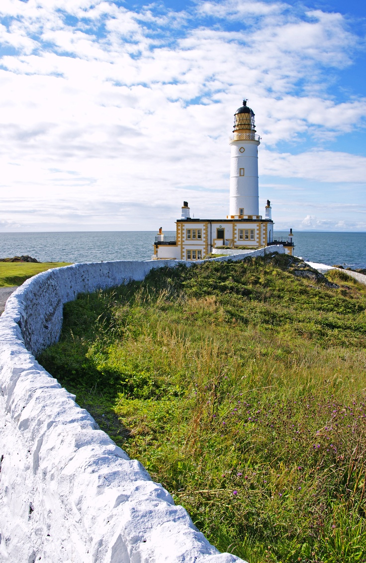 Corsewall Lighthouse in Stranraer, Wigtownshire, United Kingdom