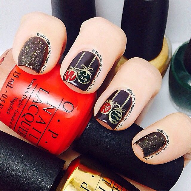 Christmas ornament nails. | Tips: Nails For Christmas/Winter in 2018 |  Pinterest | Nails, Christmas nails and Nail Art - Christmas Ornament Nails. Tips: Nails For Christmas/Winter In 2018