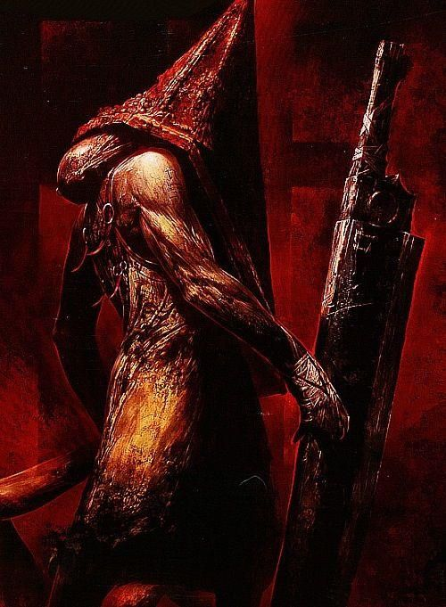 Silent hill. Pyramid head. This is one of the best pictures of Pyramid Head I've ever seen.