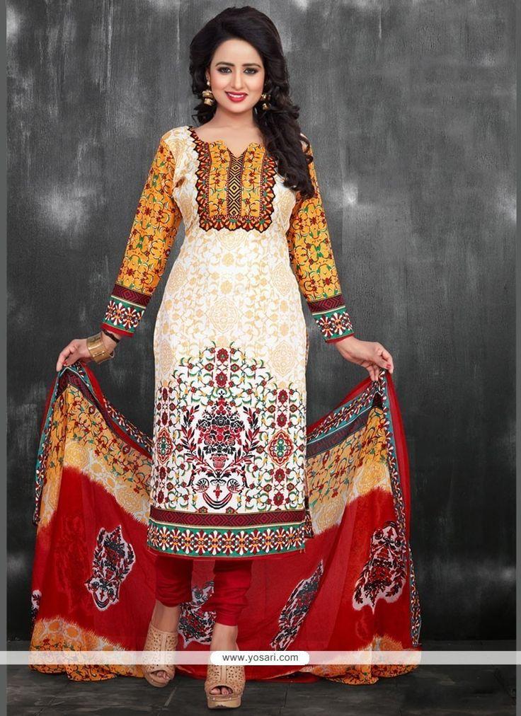 Riveting Chanderi Churidar Suit Model: YOS9443