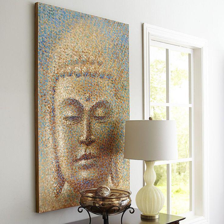 Let our impressionist-inspired Profound Buddha Art make a good impression.