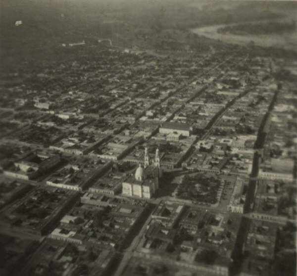 Foto aerea del centro de Culiacán hace varios años