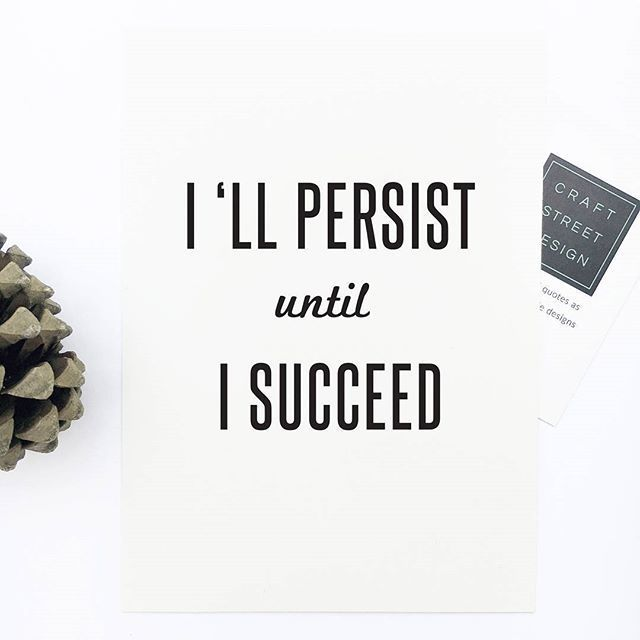 I'll persist until I succeed