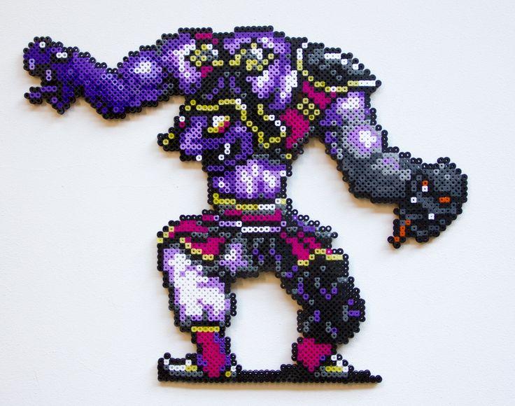 Final Fantasy IV Banon perler beads by PressBeadToStart
