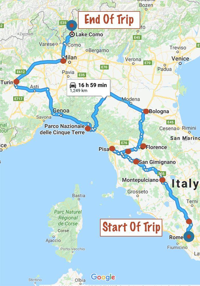Italien Rundreise Von Gabriela Baxter Auf Travel Ideas Road Trip