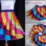 """This free sewing pattern is for the """"Peppermint Swirl Skirt""""."""