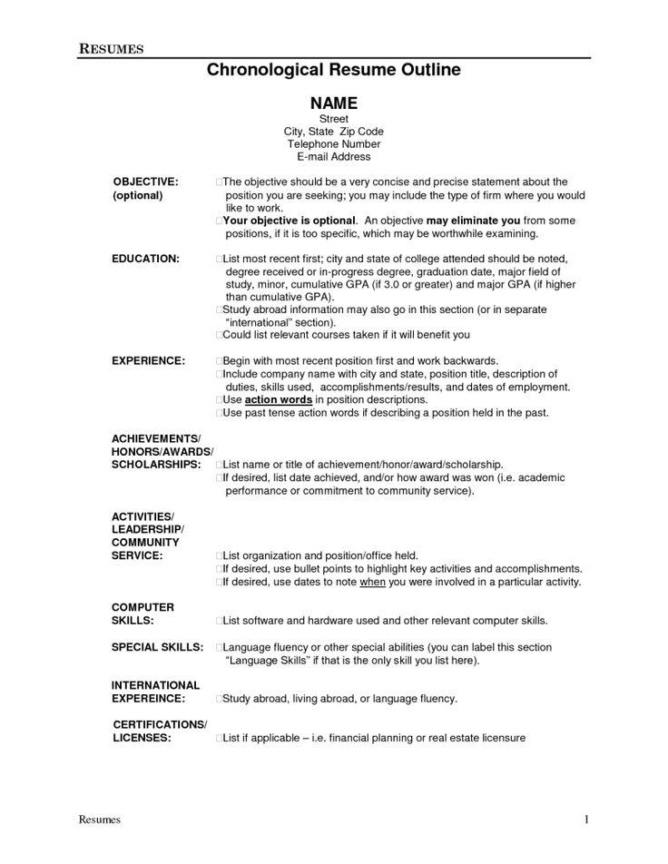 Resume Outline Resume Outline Template_12 Jpg 9+ Resume Outline - resume outline template