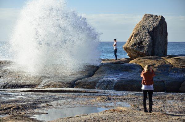 Blowhole in #Bicheno - East Coast of #Tasmania. Photo by Dan Fellow for Think Tasmania.