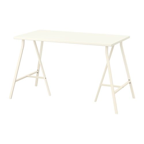 HISSMON / LERBERG Table - white - IKEA