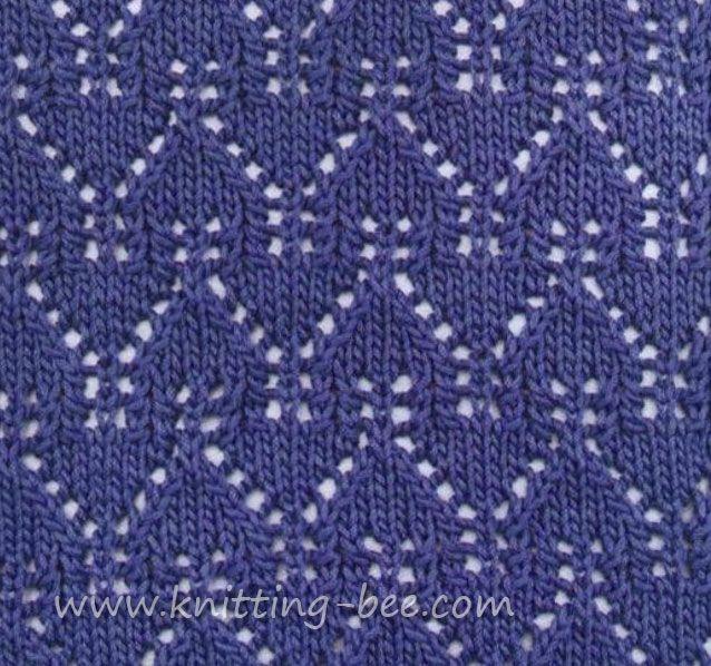 Knitting Instructions Ssk : Beautiful gables lace pattern stitch abbreviations k