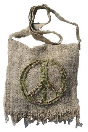 Amazon.com: Hemp Peace Sign Sling Bag - Green: Clothing