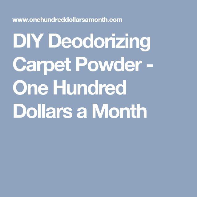 DIY Deodorizing Carpet Powder - One Hundred Dollars a Month