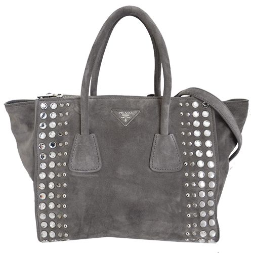 PRADA CRYSTAL STUDDED TWIN POCKET