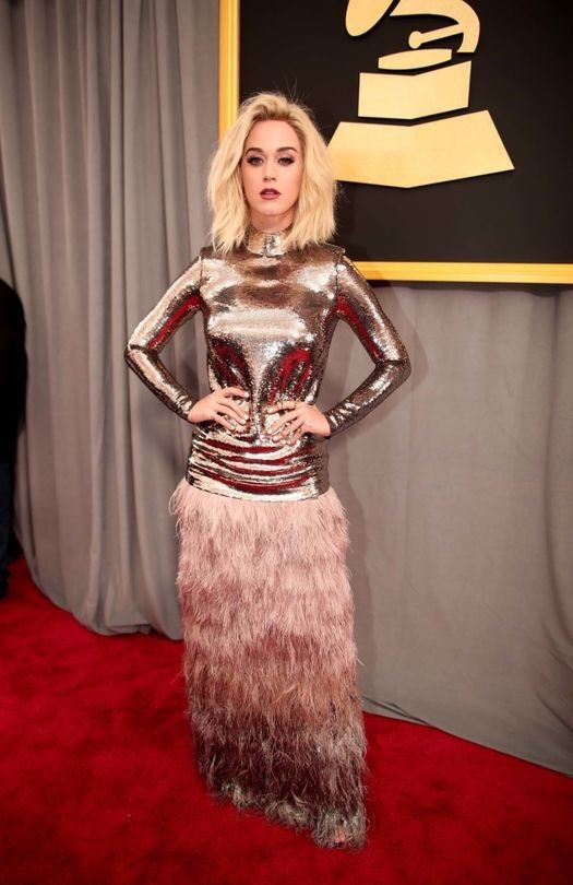 Grammy Awards 2017: what they're wearing - Vogue Australia. Katy Perry in Tom Ford.