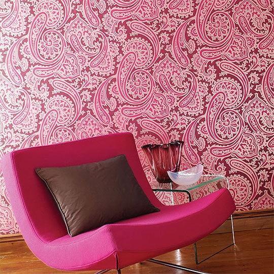 pink!: Inspiration, Pink House, Color, Pink Wallpaper, Pink Room, Wallpapers, Wallpaper Patterns, Pink Paisley