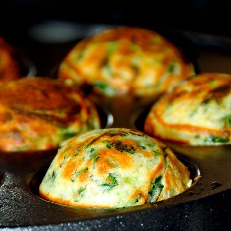 Hearty vegan green cabbage muffins