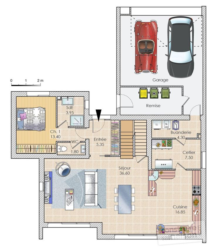 73 best Maisons images on Pinterest Floor plans, Small houses and