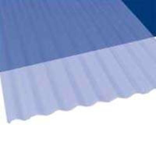 "Palram Americas 106632 Corrugated PVC Panel, 10' x 26"", Blue Clear"