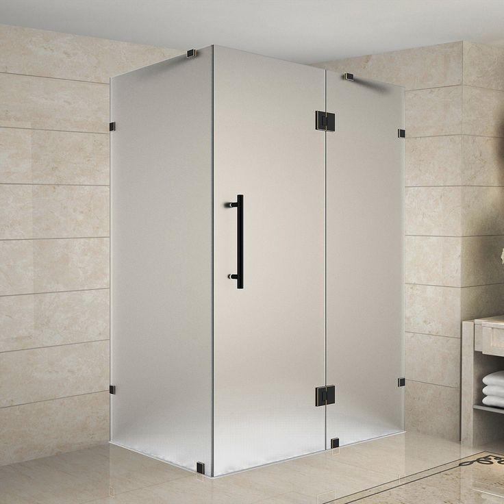 Avalux Rectangle Hinged Shower Enclosure Frameless Shower Doors