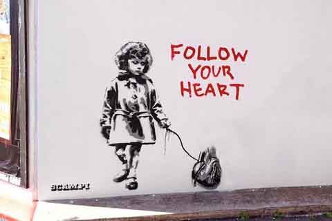 Follow Your Heart | AjoUnik.com: Seni Jalanan di Dunia