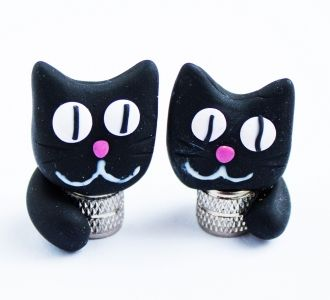 Cat valve caps for your bicycle - Bike Belle, cutest bicycle accessories online