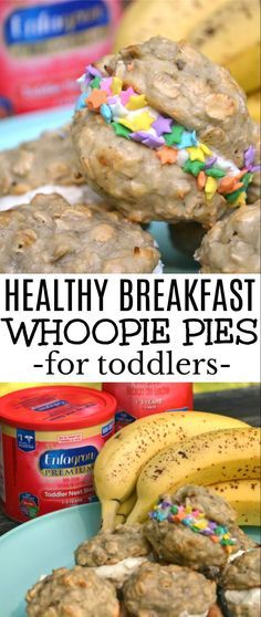 Got a picky eating toddler? You need these healthy breakfast whoopie pies in your life - they secretly have important nutrients for  your little to grow strong! #AD  Healthy Breakfast Whoopie Pies / healthy breakfast, toddler breakfast, fun breakfast, tod