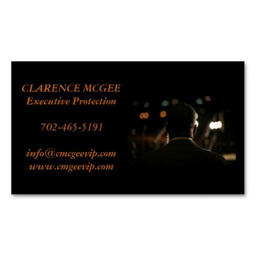 Executive Protection Business Card