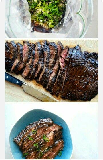 Marinated flank steak *1 ( 1 1/2- to 2-pound) flank steak ...