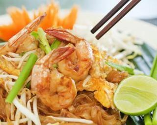 Pad thaï aux crevettes léger à emporter