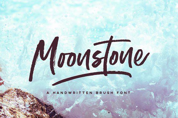 Moonstone Brush Font by VladCristea on @creativemarket