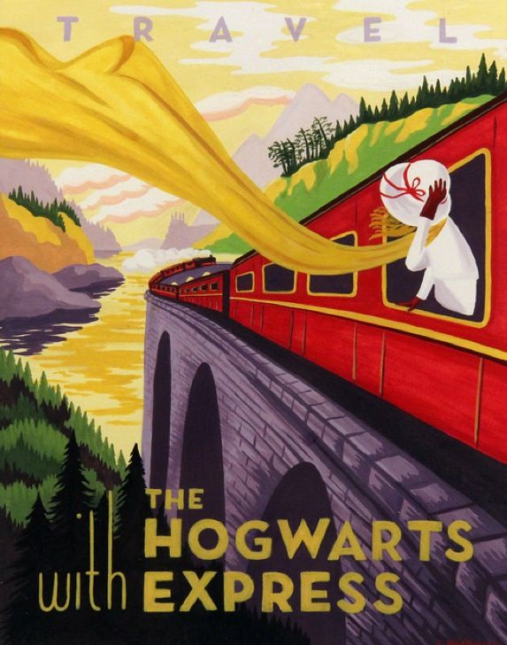 Literary travel posters