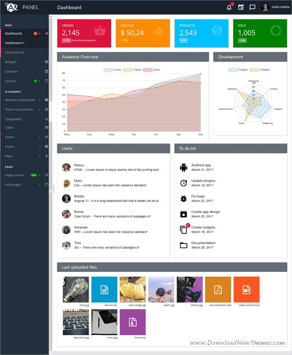 NG app is an #AngularJS Bootstrap admin #dashboard template website for admin #panel, project management system, application backend, CMS or CRM download now➩ https://wrapbootstrap.com/theme/ng-app-angular-4-admin-template-WB0761624?ref=datasata