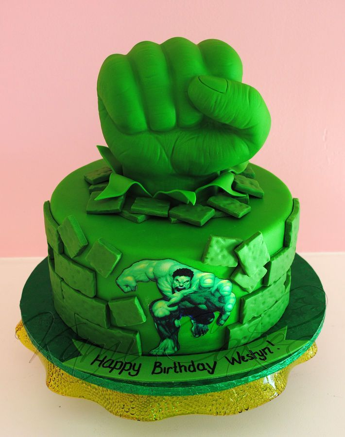 Birthday Cakes Incredible Hulk Childrens