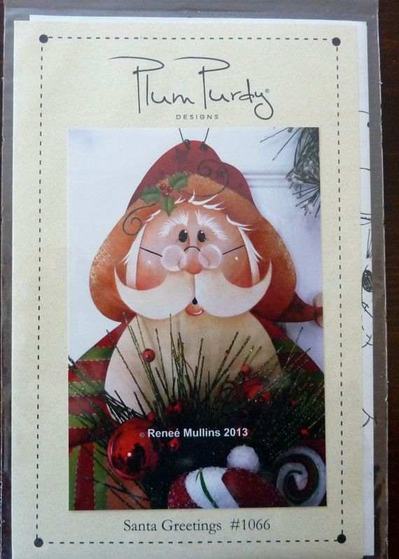 Tole Painting Pattern Santa Greetings Plum Purdy By