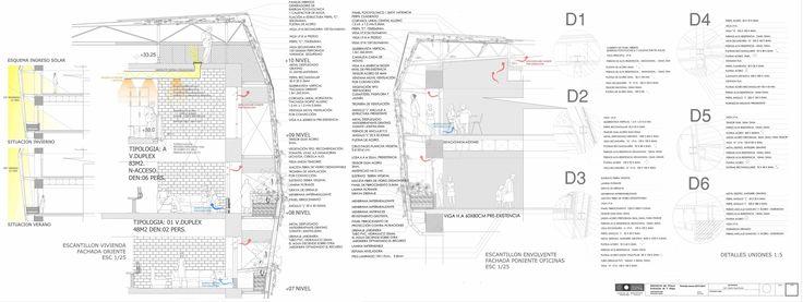 Escantillón intervención a escala Plan maestro + Escantillón Propuesta Escala residencial. + Detalles Intervención.