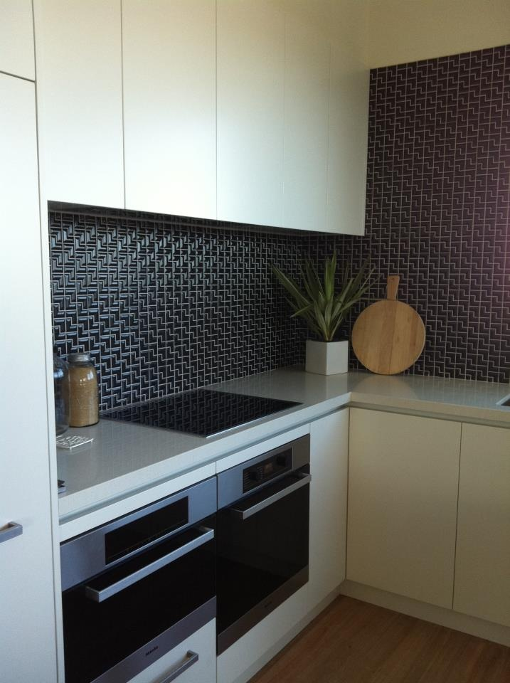 Black L Mosaic Tiles For A #kitchen #splashback Part 10