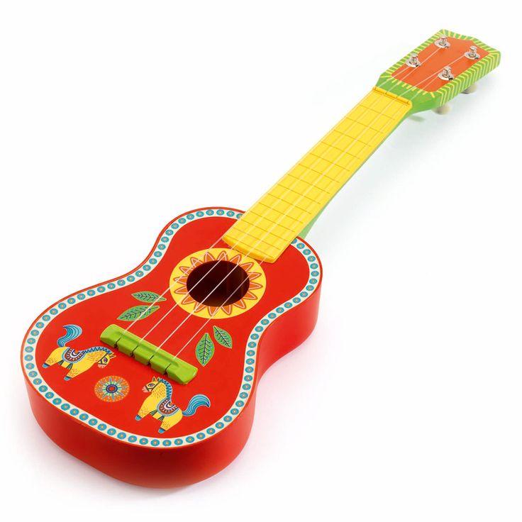 Chitara DJECO: un dar colorat perfect pentru un mic artist!