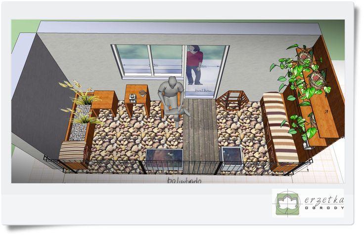 Projekty, aranżacje balkonów