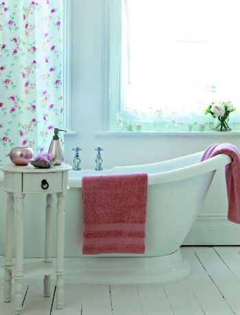 Shabby Chic is still in for bathroom decoration in 2013, with a twist of the Cath Kitson style.