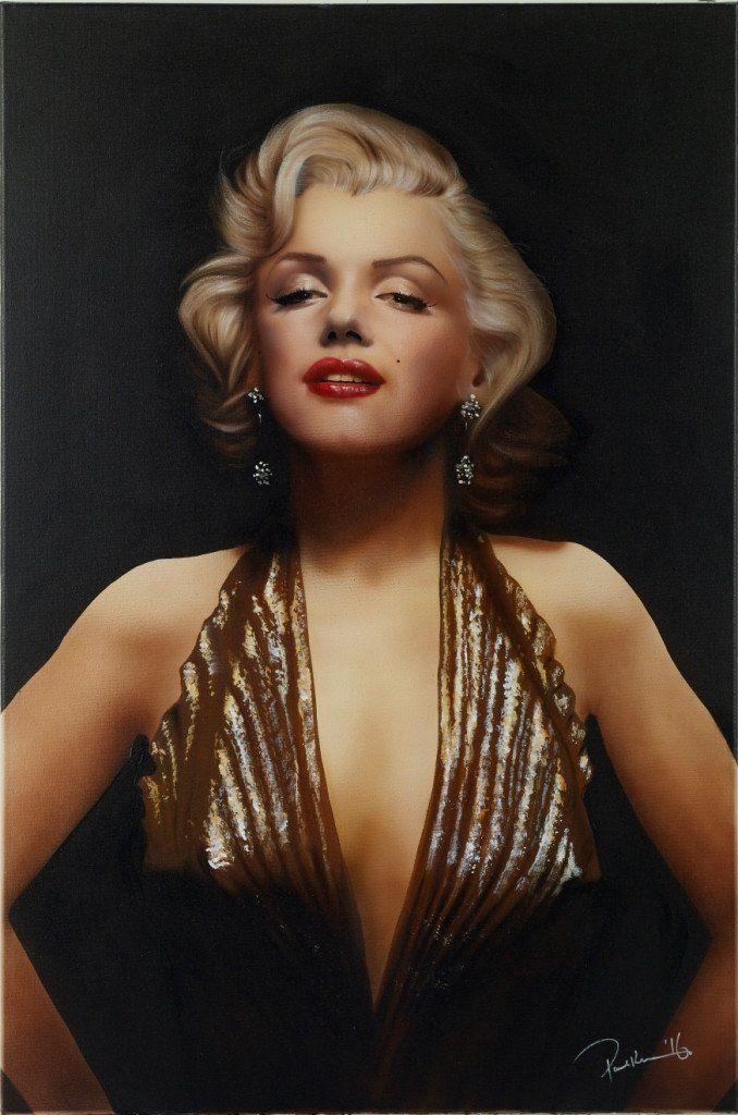 Paul Karslake FRSA Pure Gold (Marilyn Monroe Gold Dress