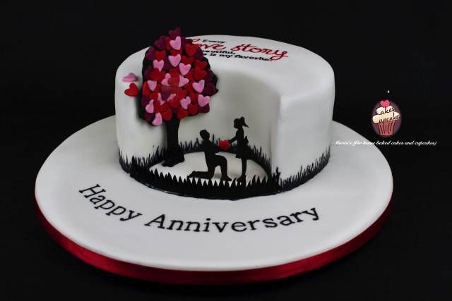 1000 images about tartas san valentin on pinterest for 1st anniversary cake designs