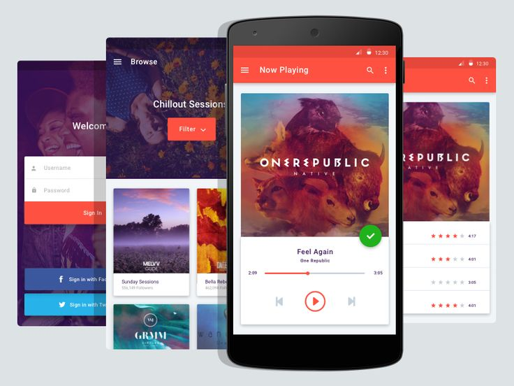 Android Music App - Material Design