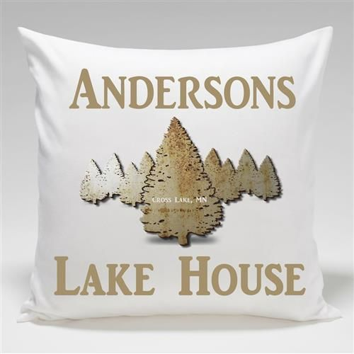 Cabin Series Throw Pillow Free Personalization – GiftsEngraved