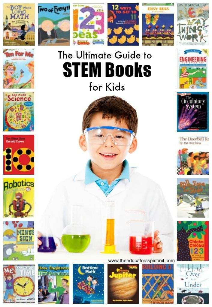The Ultimate Guide to STEM Books for Children to explore books about Science Technology, Engineering and Math as kids read to build a strong educational foundation for learning and creating.