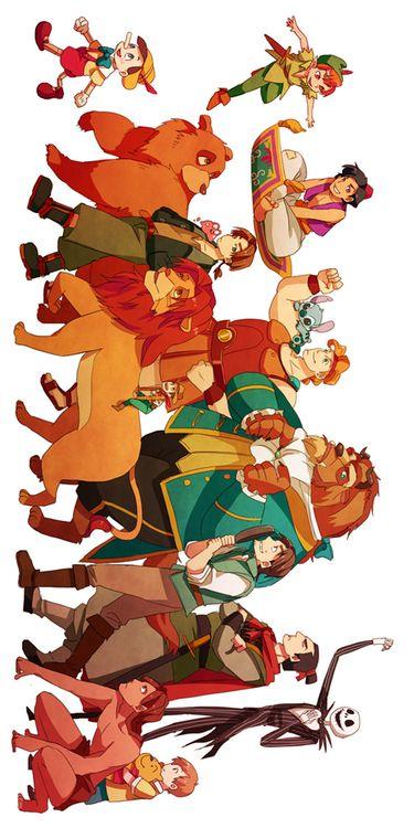 Disney Boys. This is perfect! Disney heroes. Disney Men. Love it.