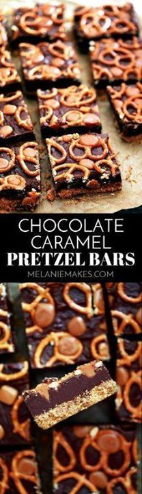 With just six ingred With just six ingredients these Chocolate...  With just six ingred With just six ingredients these Chocolate Caramel Pretzel Bars couldnt be easier yet will easily feed a crowd. A buttery graham cracker crumb base layer is covered with thick fudgy chocolate before being adorned with mini pretzels and caramels. The perf Recipe : http://ift.tt/1hGiZgA And @ItsNutella  http://ift.tt/2v8iUYW