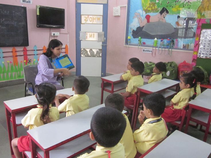 Students  listening to their teacher so silently in disciplined manner.