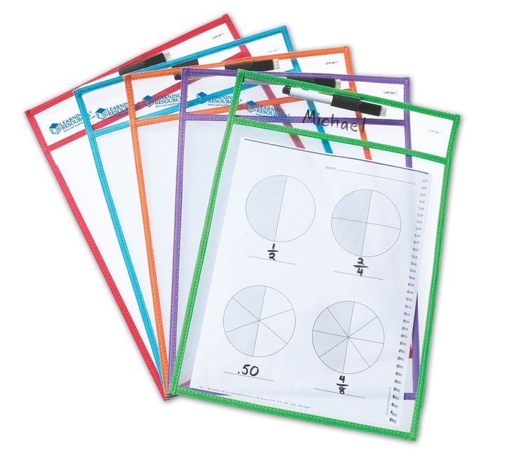 Write & Wipe Reusable Pockets   Teaching Resources