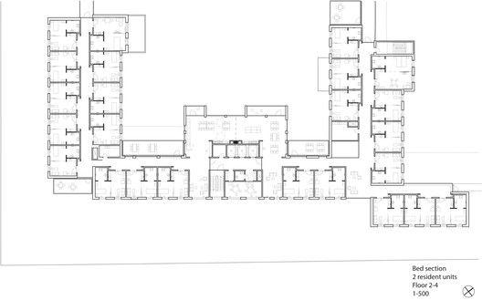Sølund Retirement Community Second Prize Winning Proposal / Henning Larsen Architects,plan 02